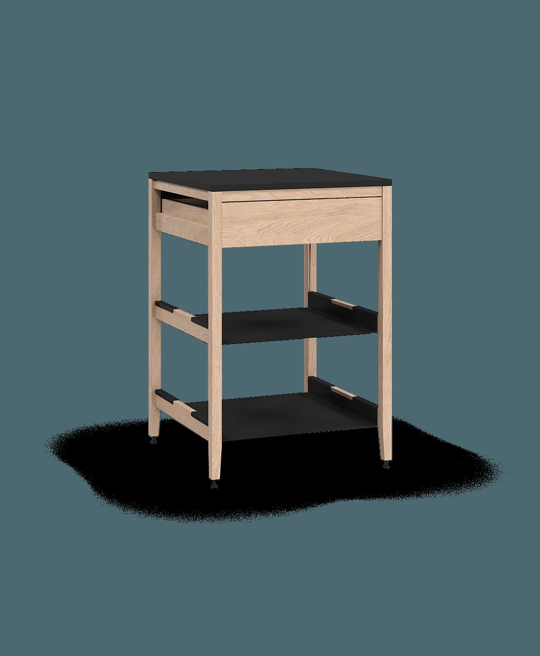 armoire de cuisine modulaire inférieure en bois massif coquo radix avec 2 tablettes 1 tiroir chêne blanc 27 pouces C1-C-27SB-1022-NA