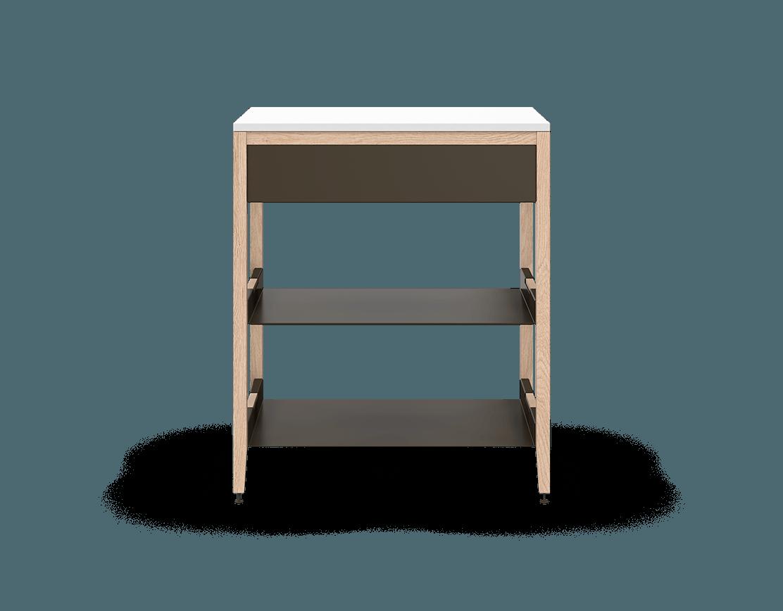 armoire de cuisine modulaire inférieure en bois massif coquo radix avec 2 tablettes 1 tiroir chêne blanc 30 pouces C1-C-30SB-1021-NA