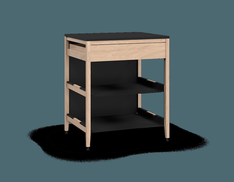 armoire de cuisine modulaire inférieure en bois massif coquo radix avec 2 tablettes 1 tiroir chêne blanc 30 pouces C1-C-30TB-1022-NA