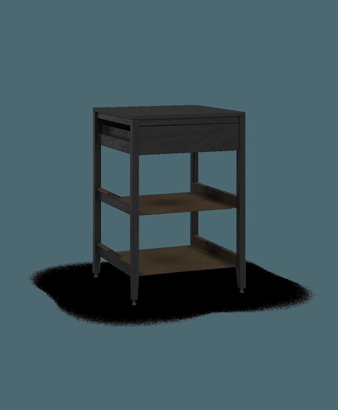 armoire de cuisine modulaire inférieure en bois massif coquo radix avec 2 tablettes 1 tiroir chêne teint noir nuit profonde 27 pouces C1-C-27SB-1021-BK