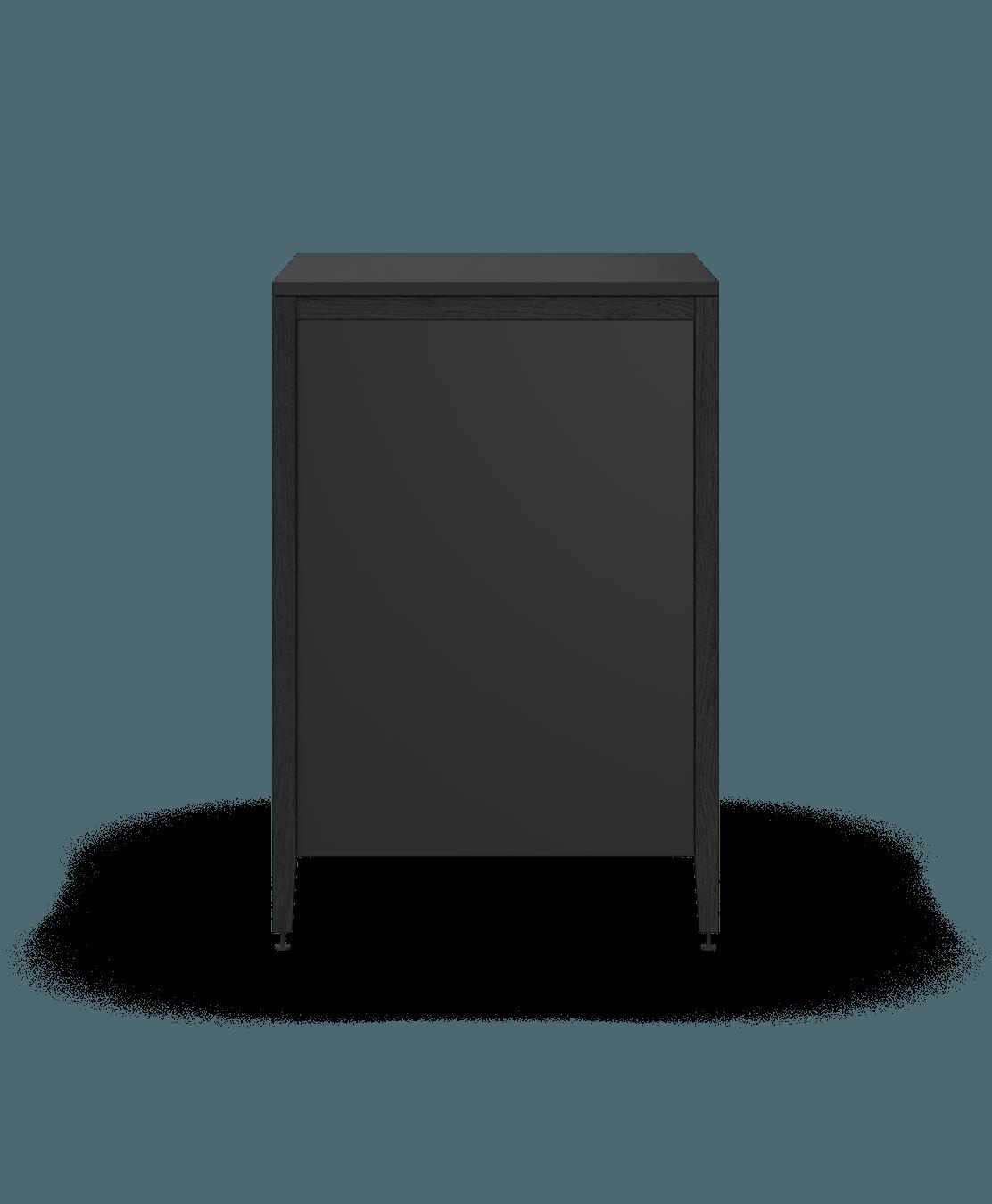 armoire de cuisine modulaire inférieure en bois massif coquo radix avec 3 tiroirs chêne teint noir nuit profonde 24 pouces C1-C-24TB-3002-BK