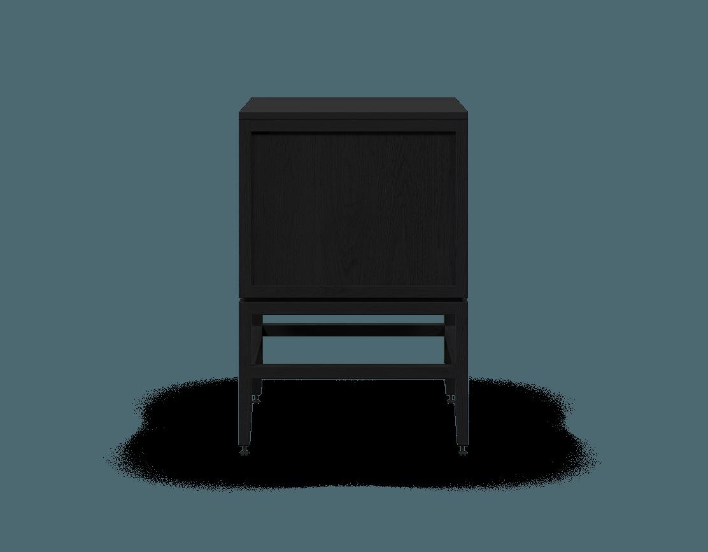 armoire inférieure modulaire de rangement en bois massif coquo volitare avec 1 tiroir 2 portes chêne teint noir nuit profonde 24 pouces C2-C-2424-1202-BK