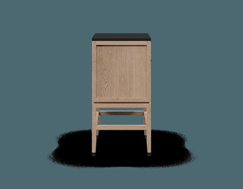 armoire inférieure modulaire de rangement en bois massif coquo volitare avec 2 tiroirs chêne blanc 24 pouces C2-C-2418-2002-NA