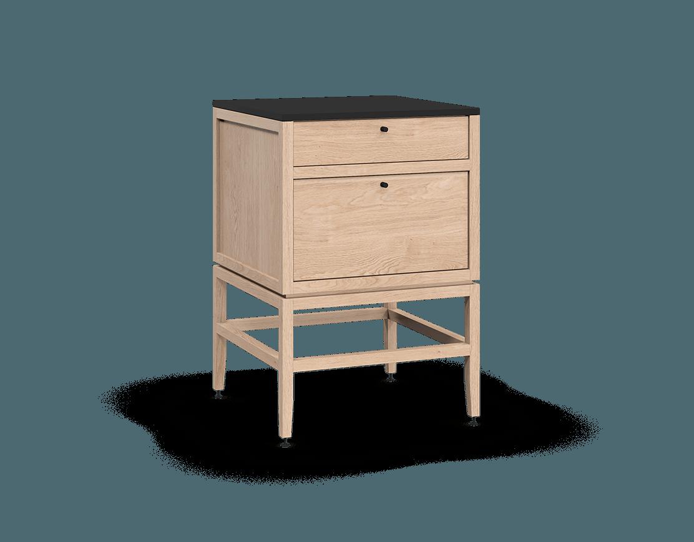 armoire inférieure modulaire de rangement en bois massif coquo volitare avec 2 tiroirs chêne blanc 24 pouces C2-C-2424-2002-NA