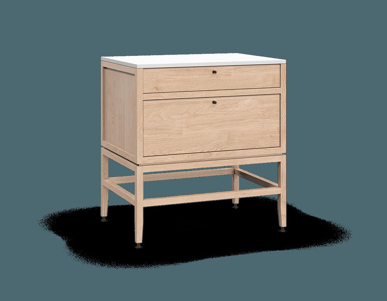 armoire inférieure modulaire de rangement en bois massif coquo volitare avec 2 tiroirs chêne blanc 33 pouces C2-C-3324-2001-NA