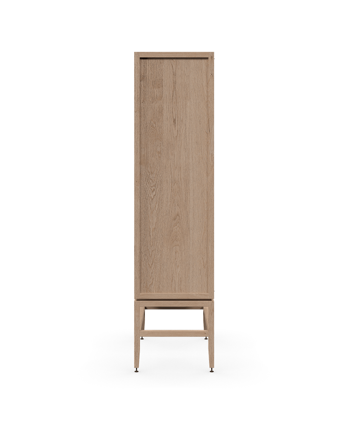armoire vaisselier vitré modulaire de rangement en bois massif coquo volitare avec 2 portes verre chêne blanc 33 pouces C2-D-3318-1201-NA