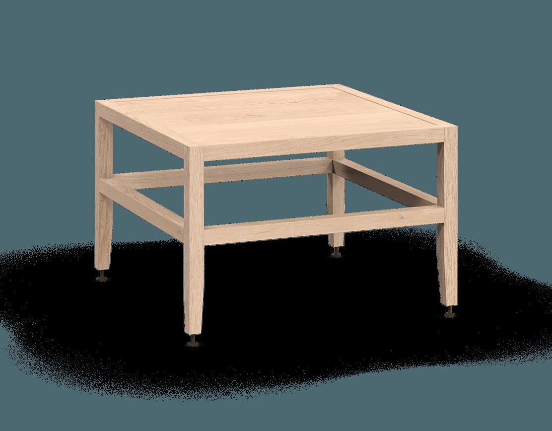 banquette ou table de salon modulaire en bois massif coquo volitare avec chêne blanc 24 pouces C2-B-2424-0001-NA