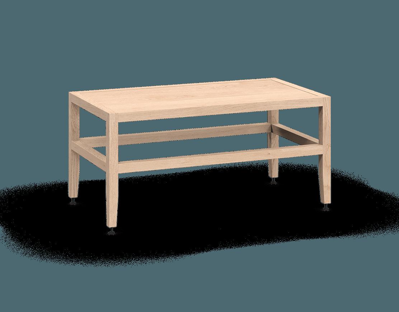 banquette ou table de salon modulaire en bois massif coquo volitare avec chêne blanc 33 pouces C2-B-3318-0002-NA