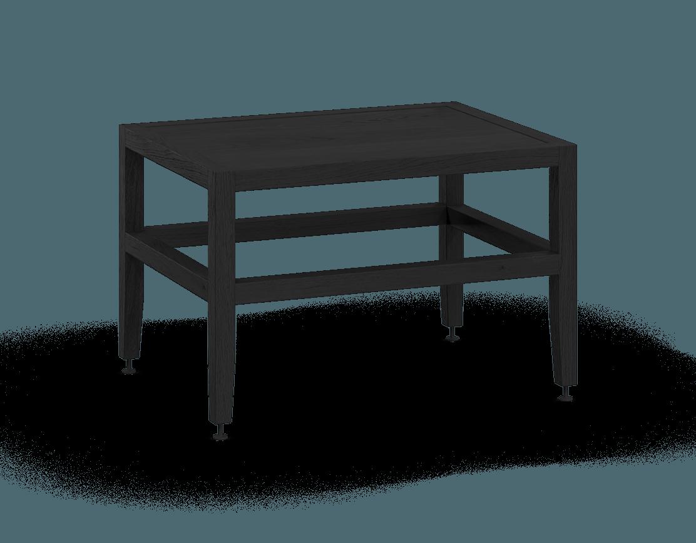 banquette ou table de salon modulaire en bois massif coquo volitare avec chêne teint noir nuit profonde 24 pouces C2-B-2418-0002-BK