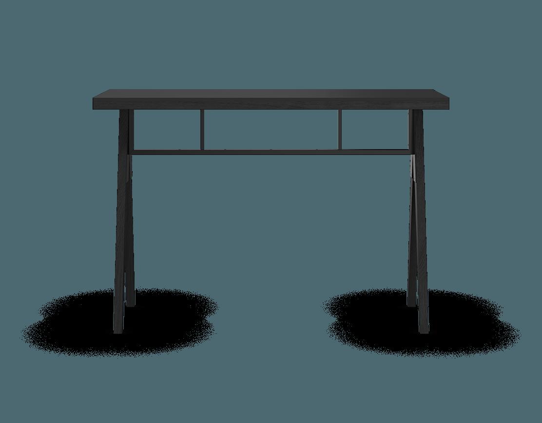 coquo b+E290:G290raccas midnight black stained oak solid wood modular black fenix countertop kitchen island 54 inch C3-T-5420-0002-BK-FTB