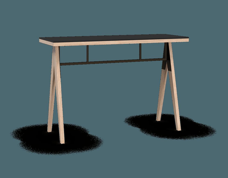 coquo braccas white oak solid wood modular black fenix countertop kitchen island 54 inch C3-T-5420-0001-NA-FTB