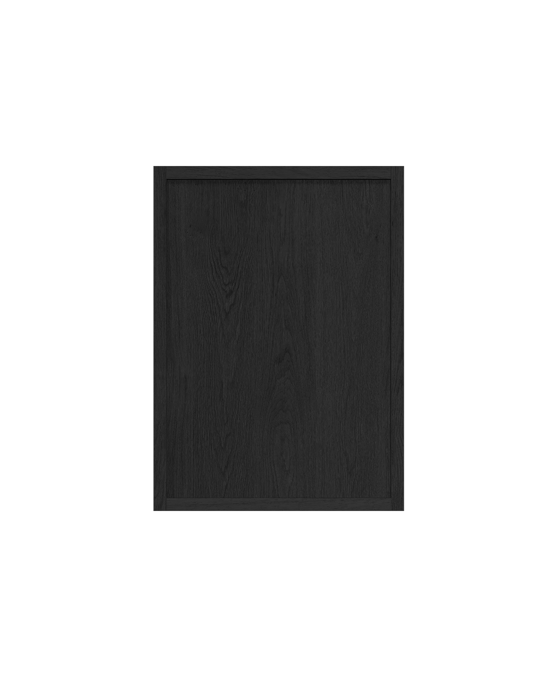 coquo radix midnight black stained oak solid wood modular 2 glass doors wall upper kitchen cabinet 12 inch C1-W-2412-0202-BK