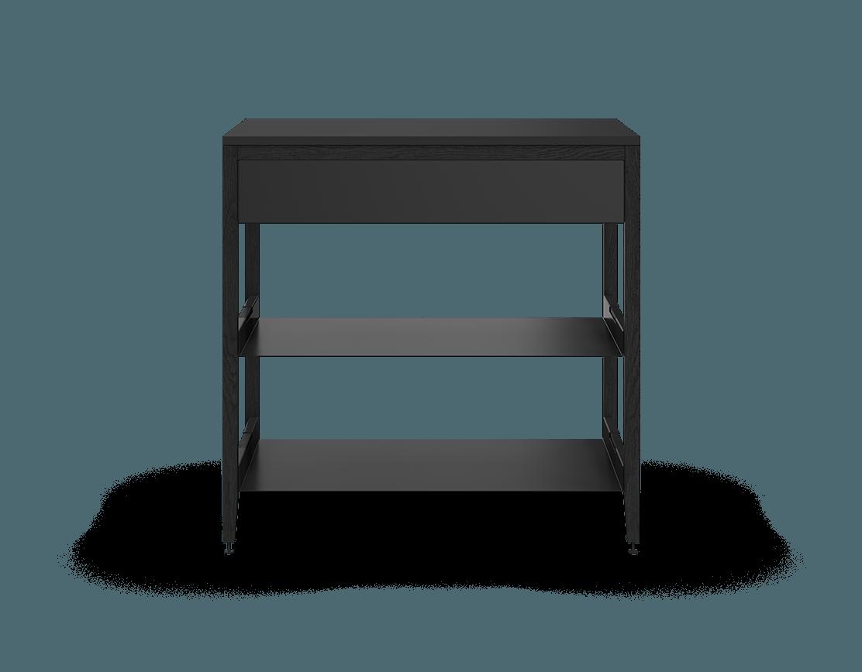 coquo radix midnight black stained oak solid wood modular 2 shelves 1 drawer base kitchen cabinet 36 inch C1-C-36SB-1022-BK