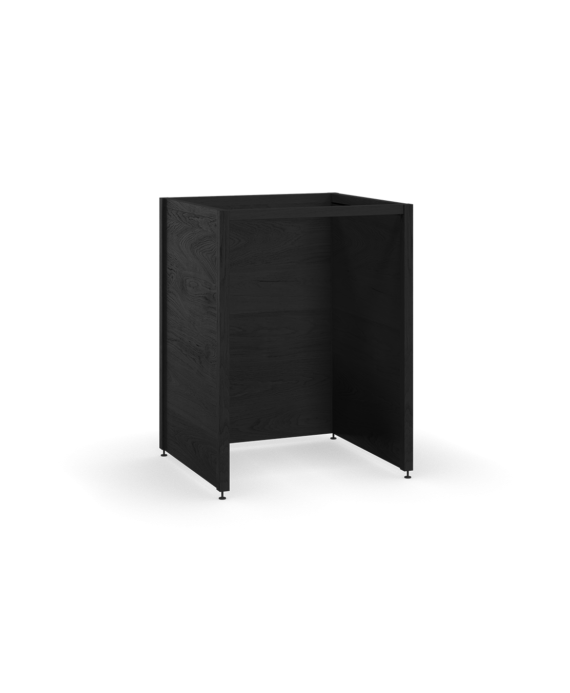 coquo radix midnight black stained oak solid wood modular built-in appliances kitchen cabinet kit 26.5 inch C1-A-24TB-0000-BK