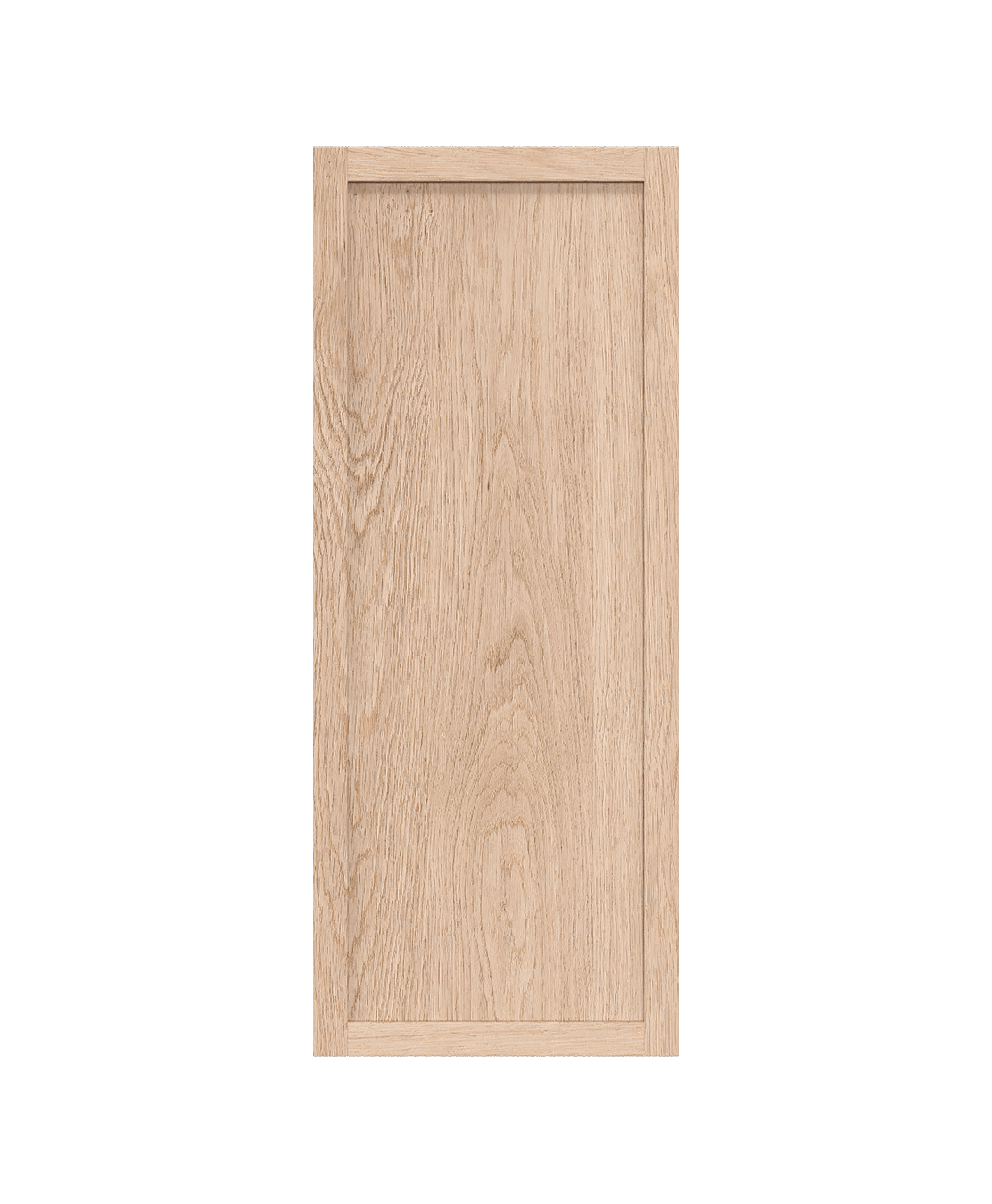 coquo radix white oak solid wood modular 2 glass doors open wall upper kitchen cabinet 12 inch C1-W-1212-0000-NA