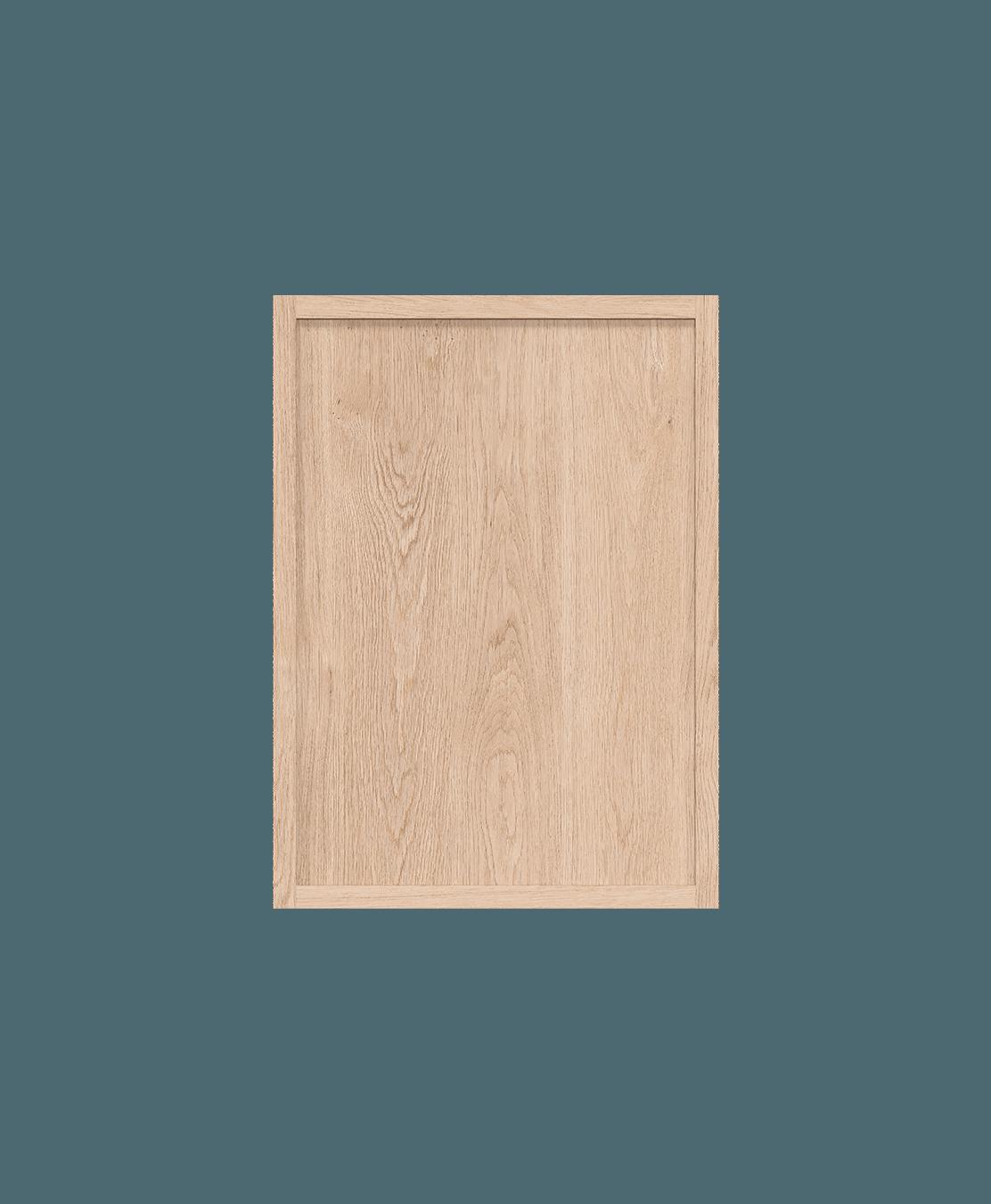 coquo radix white oak solid wood modular 2 glass doors wall upper kitchen cabinet 12 inch C1-W-2412-0201-NA