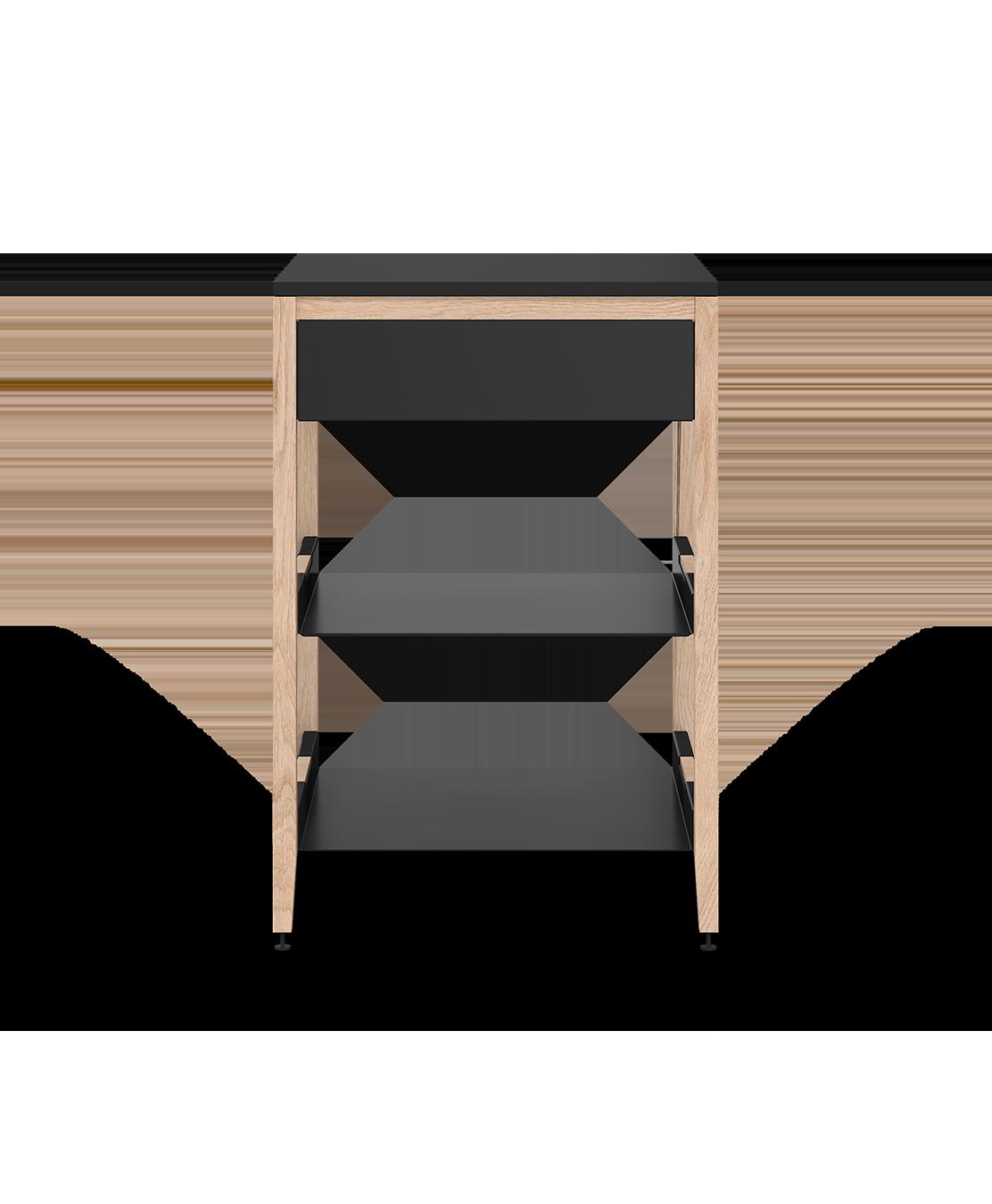 coquo radix white oak solid wood modular 2 shelves false front base corner kitchen cabinet 24 inch C1-CC-24SB-0022-NA