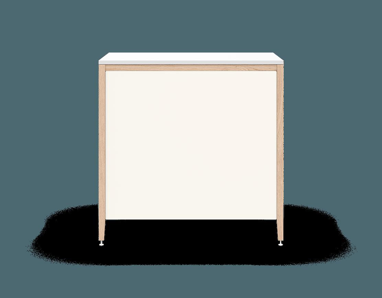 coquo radix white oak solid wood modular 3 drawers base kitchen cabinet 36 inch C1-C-36TB-3003-NA