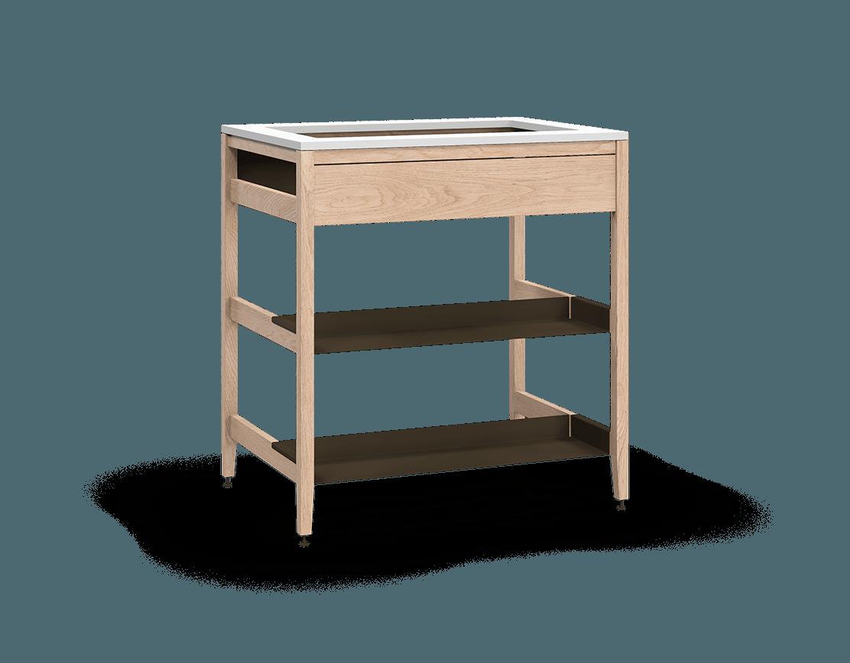 Radix Sink Cabinet False Front, 2-Half Shelf, S Bck 33 In W/Bz | coquo