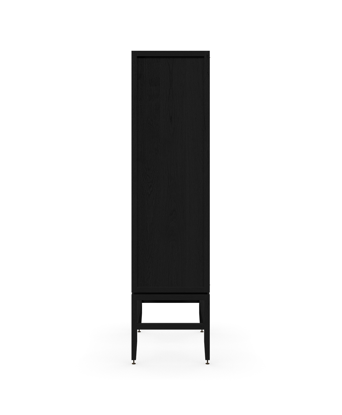 coquo volitare midnight black stained oak solid wood modular 2 glass doors storage glass display hutch cabinet 33 inch C2-D-3318-1201-BK