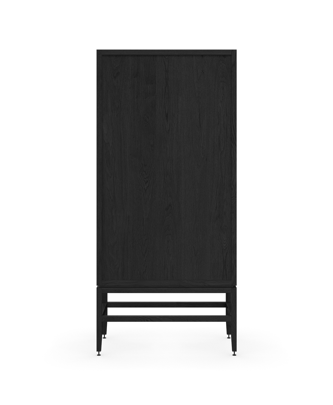 coquo volitare midnight black stained oak solid wood modular 2 glass doors storage glass display hutch cabinet 33 inch C2-D-3318-1202-BK