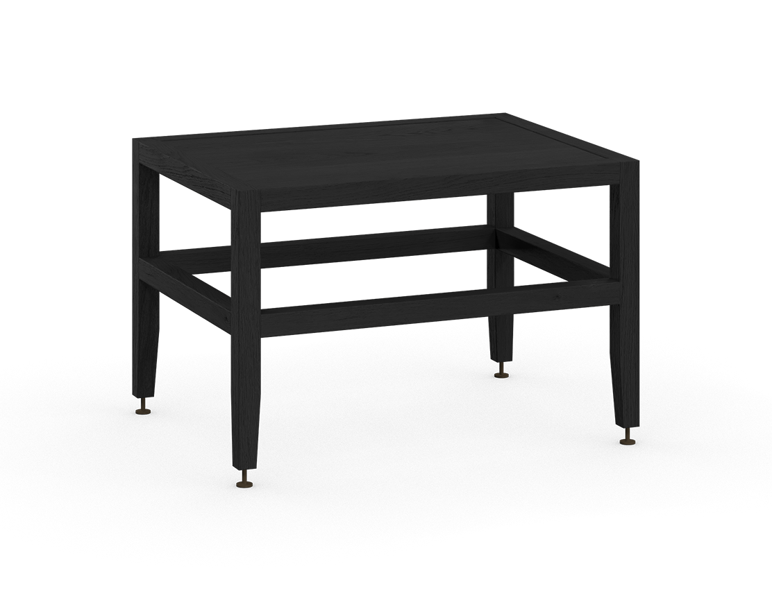 coquo volitare midnight black stained oak solid wood modular bench or coffee table 24 inch C2-B-2418-0001-BK