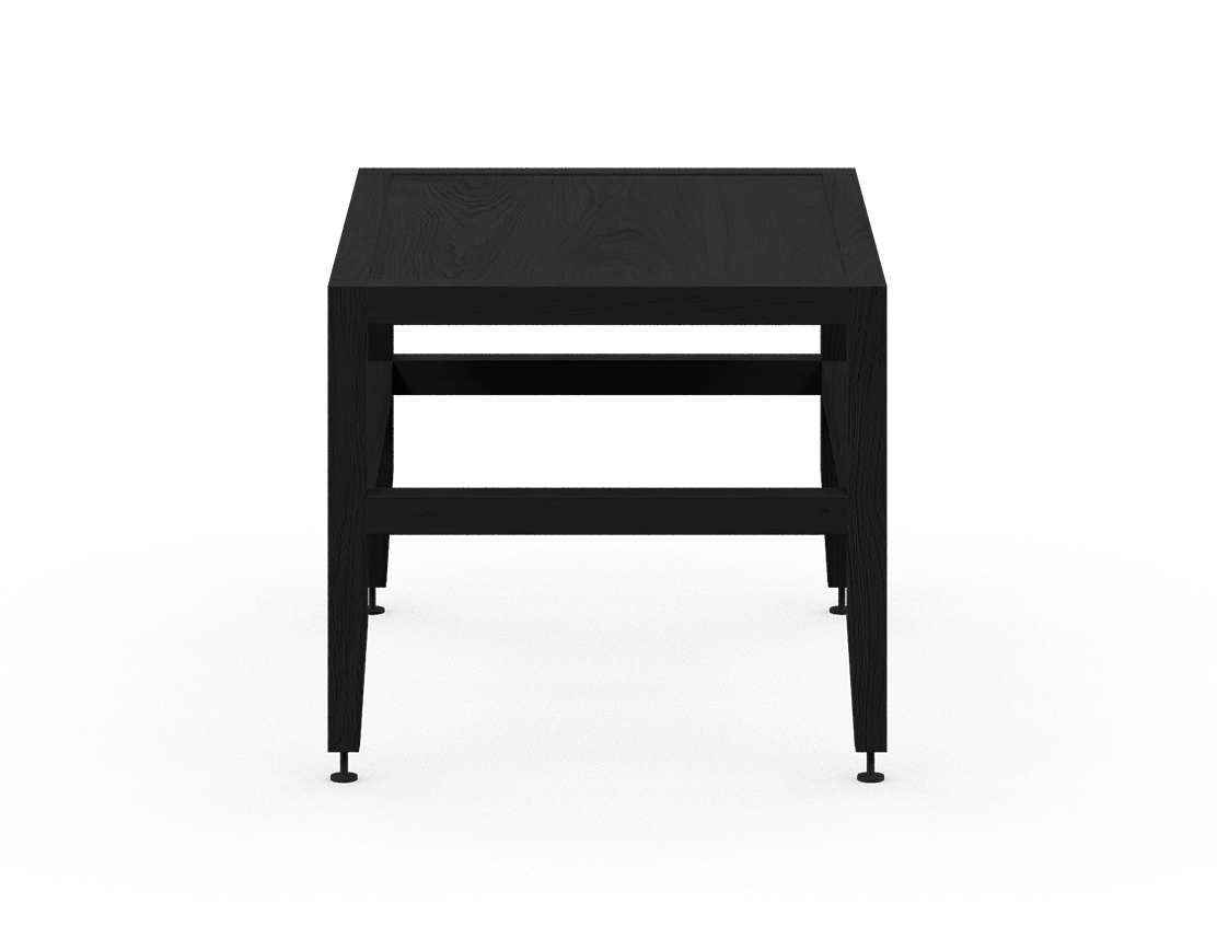 coquo volitare midnight black stained oak solid wood modular bench or coffee table 24 inch C2-B-2418-0002-BK