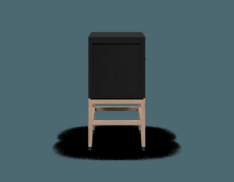 coquo volitare midnight black stained oak white oak solid wood modular 1 drawer 2 doors storage base cabinet 24 inch C2-C-2418-1201-BK-NA