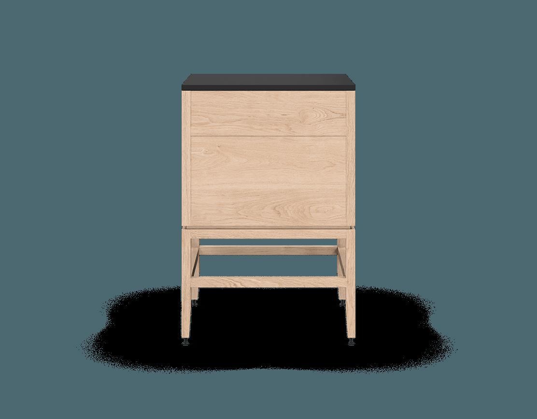 coquo volitare white oak solid wood modular 2 drawers storage base cabinet 24 inch C2-C-2424-2002-NA