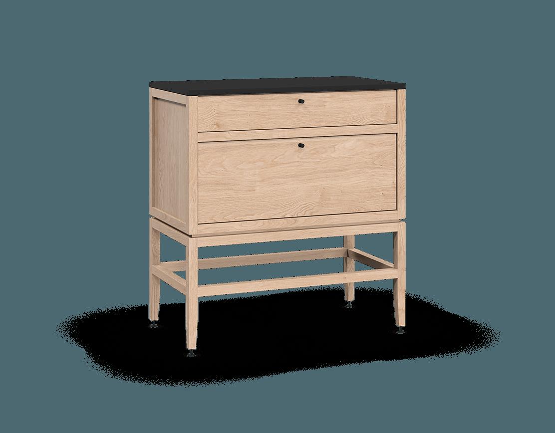 coquo volitare white oak solid wood modular 2 drawers storage base cabinet 33 inch C2-C-3318-2002-NA