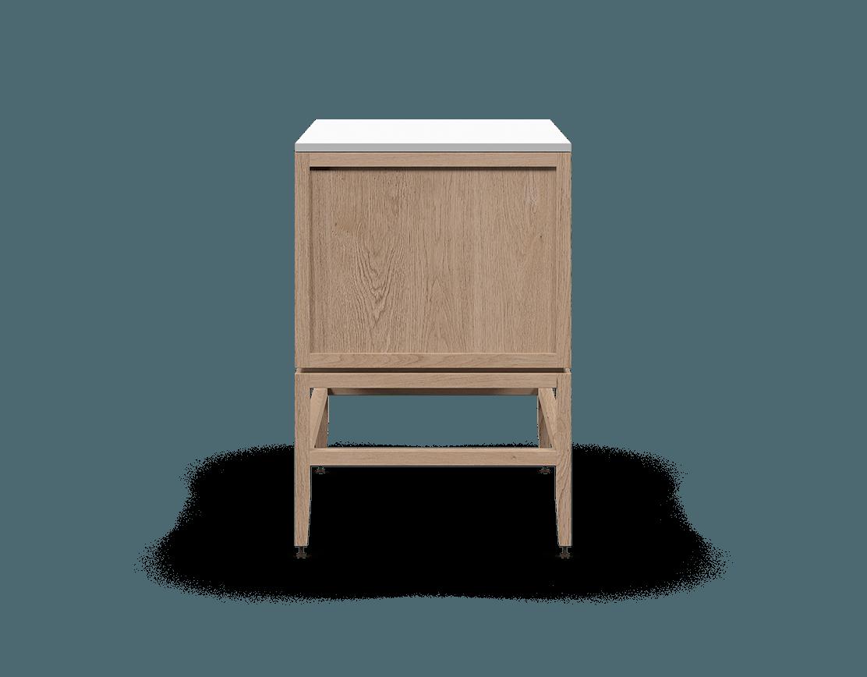 coquo volitare white oak solid wood modular 2 drawers storage base cabinet 33 inch C2-C-3324-2001-NA