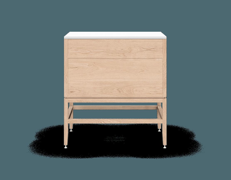 coquo volitare white oak solid wood modular 2 drawers storage base cabinet 33 inch C2-C-3324-2003-NA