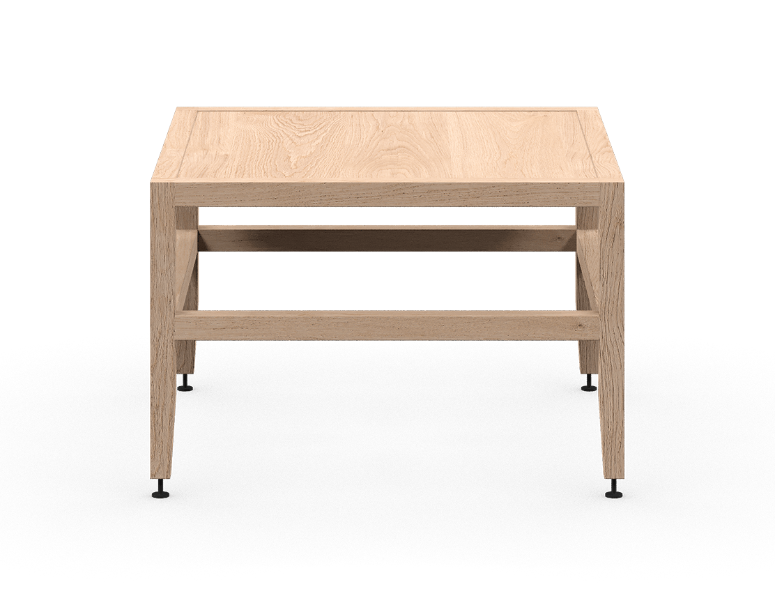 coquo volitare white oak solid wood modular bench or coffee table 24 inch C2-B-2424-0001-NA