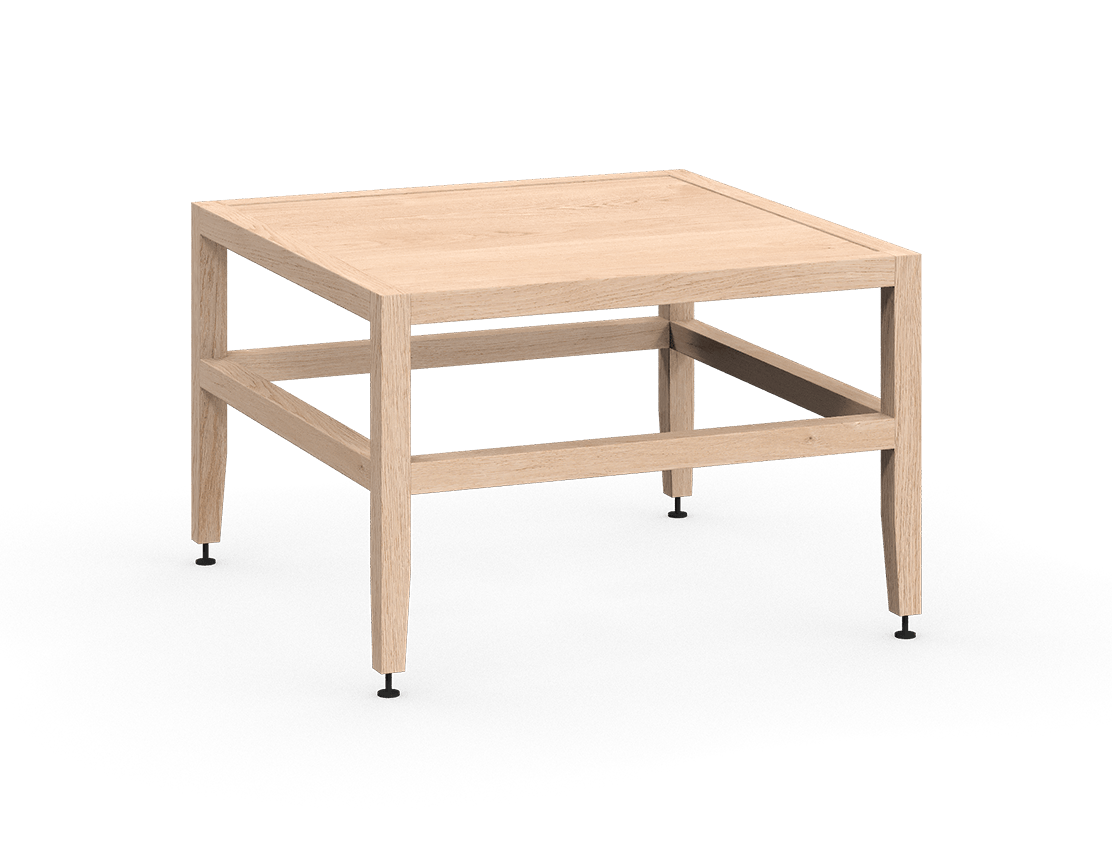 coquo volitare white oak solid wood modular bench or coffee table 24 inch C2-B-2424-0002-NA
