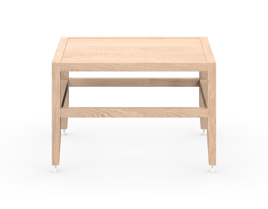 coquo volitare white oak solid wood modular bench or coffee table 24 inch C2-B-2424-0003-NA