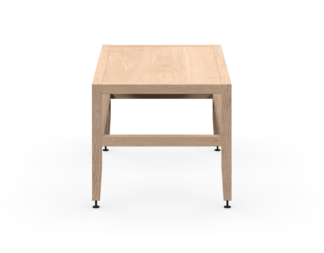 coquo volitare white oak solid wood modular bench or coffee table 33 inch C2-B-3318-0002-NA