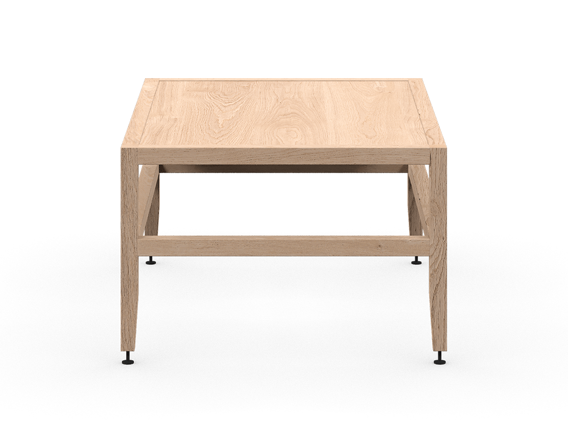 coquo volitare white oak solid wood modular bench or coffee table 33 inch C2-B-3324-0001-NA