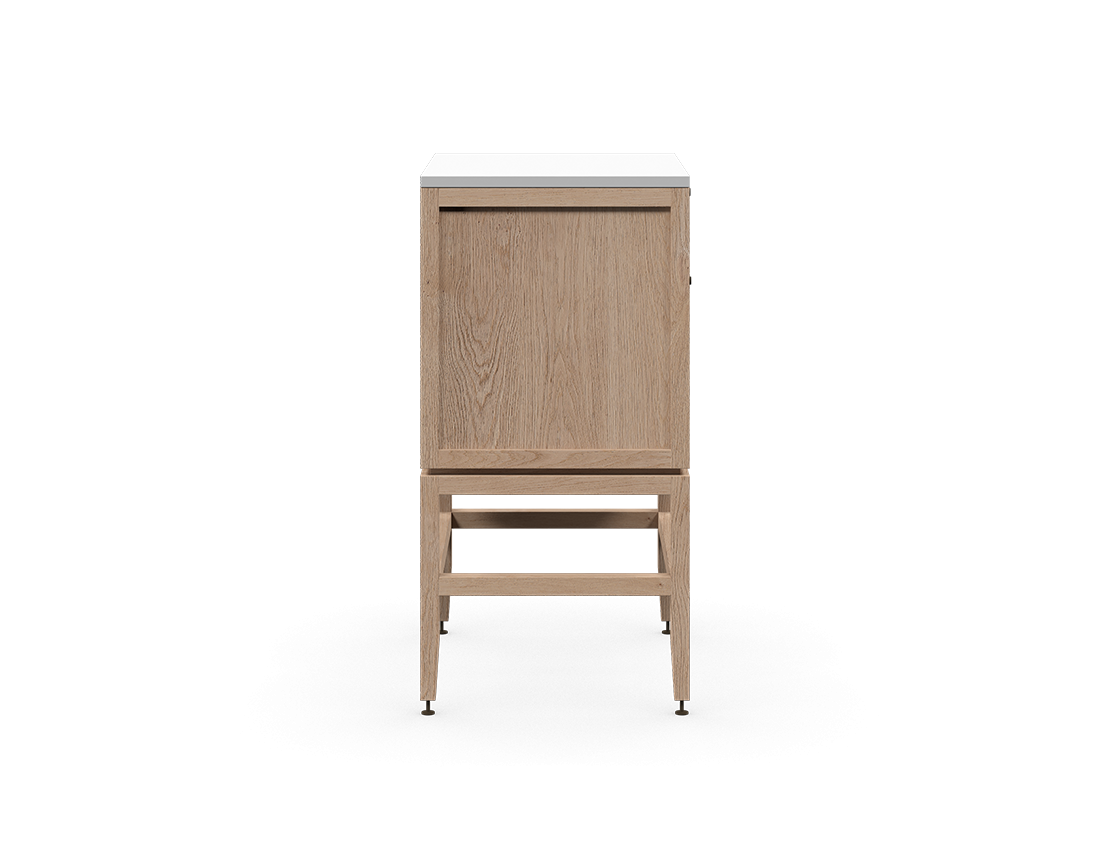 coquo volitare white oak solid wood modular false front 2 doors storage bathroom vanity cabinet 24 inch C2-CSK-2418-0201-NA
