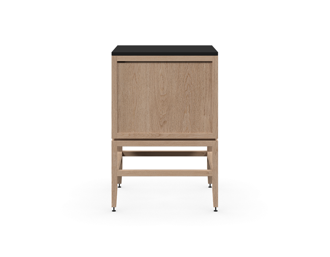 coquo volitare white oak solid wood modular false front 2 doors storage bathroom vanity cabinet 24 inch C2-CSK-2424-0202-NA