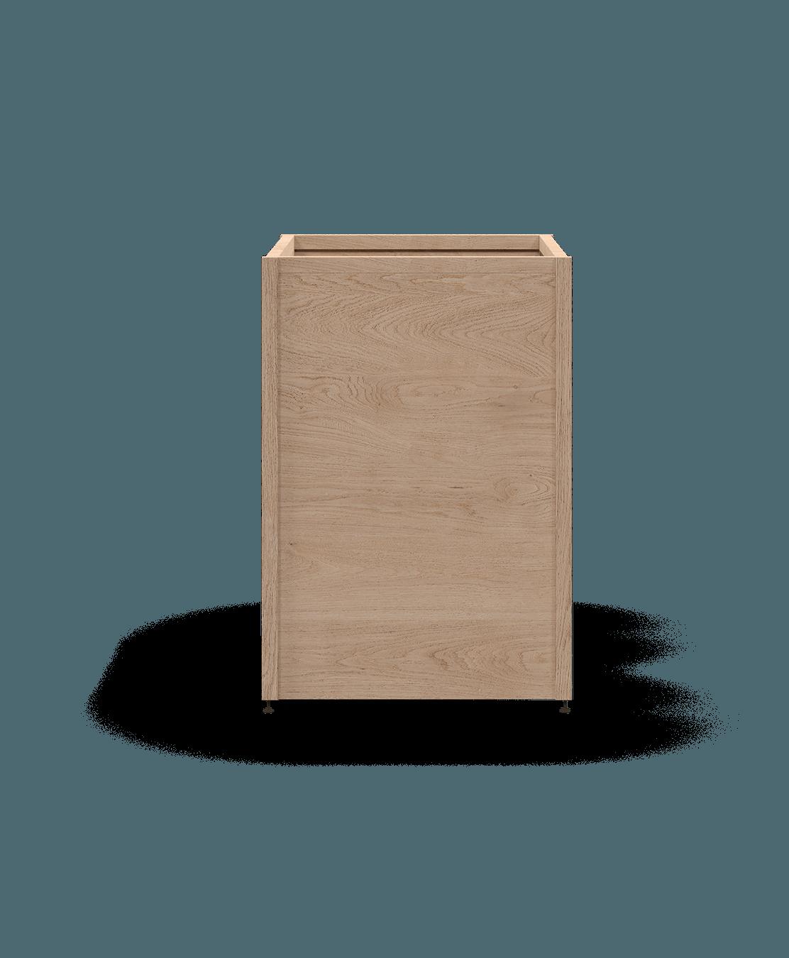 ensemble pour armoire de cuisine modulaire pour electromenagers encastrables en bois massif coquo radix chêne blanc 26,5 pouces C1-A-24TB-0000-NA