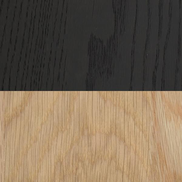 Stained oak midnight black+ white oak