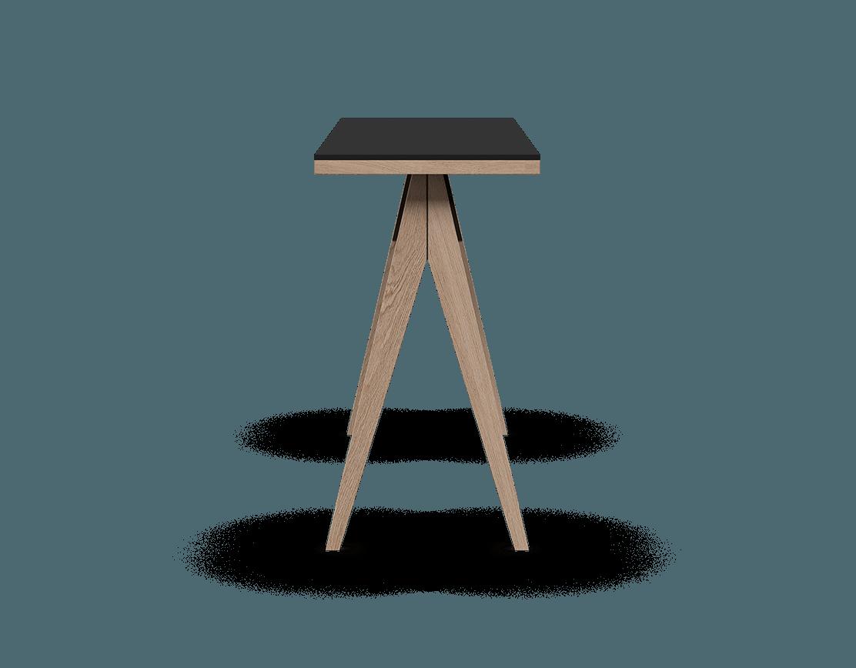 îlot de cuisine modulaire en bois massif coquo braccas avec comptoir fenix noir chêne blanc 54 pouces C3-T-5420-0001-NA-FTB