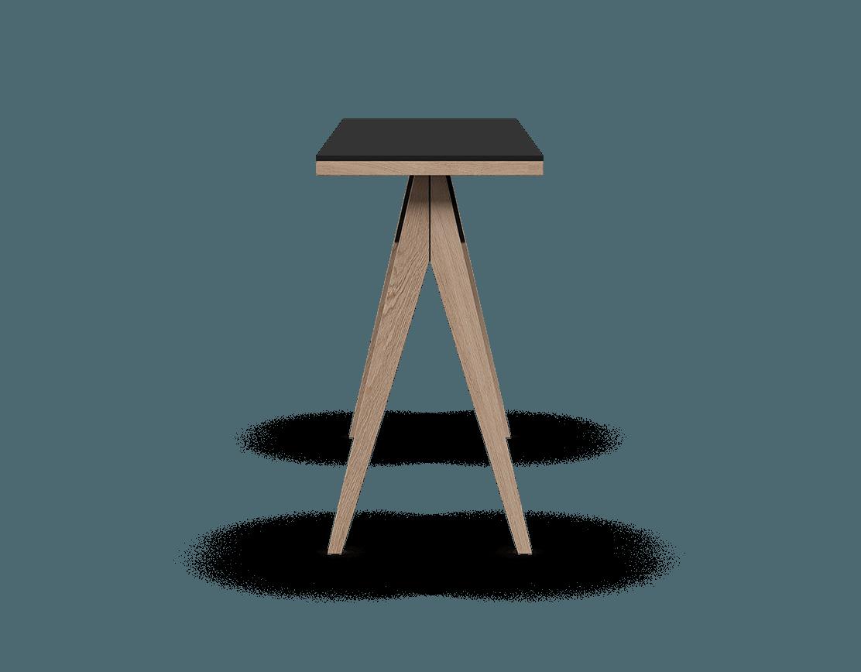 îlot de cuisine modulaire en bois massif coquo braccas avec comptoir fenix noir chêne blanc 54 pouces C3-T-5420-0002-NA-FTB