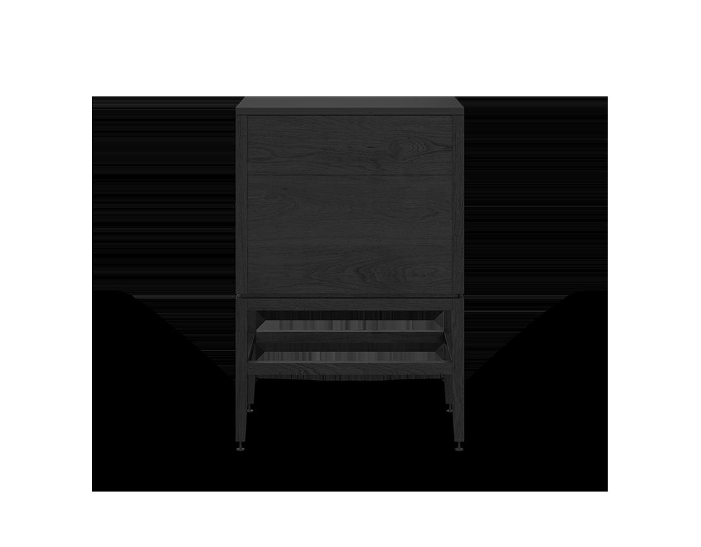 meuble lavabo vanité pour salle de bain modulaire de rangement en bois massif coquo volitare avec 2 portes chêne teint noir nuit profonde 24 pouces C2-CSK-2418-0202-BK