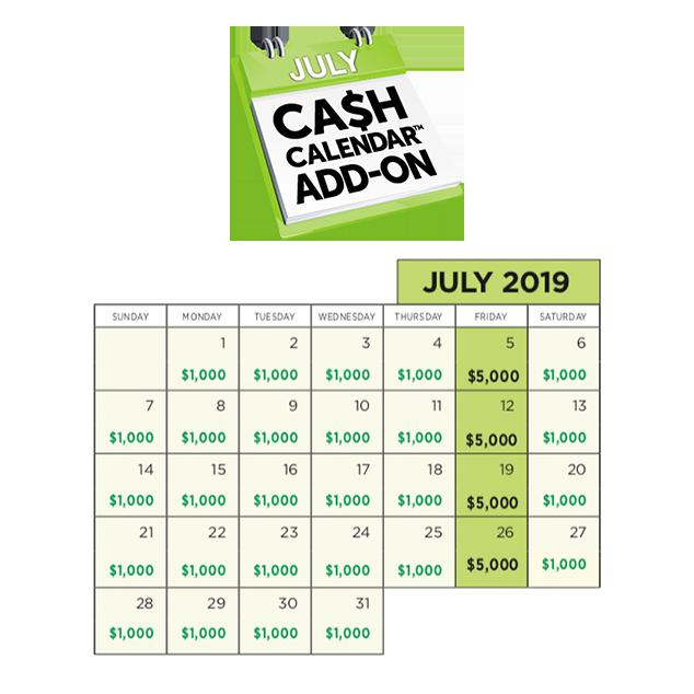Cash Calendar prize logo