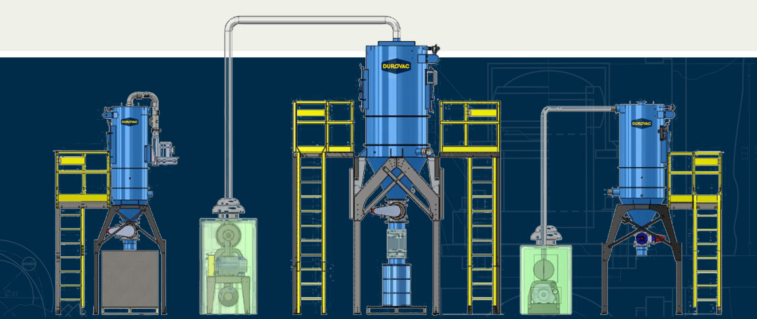 Illustration of 3 DuroVac Core Series Vacuum Systems