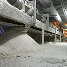 Powerlift® sucking up Activated Lime Dust & Chunks at reduction plant, lime tower