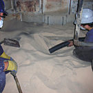 DuroVac Heavy Duty Vacuum Cleaning Silica on site