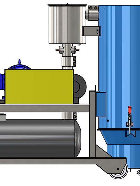 Portable Industrial Vacuum DVP Side