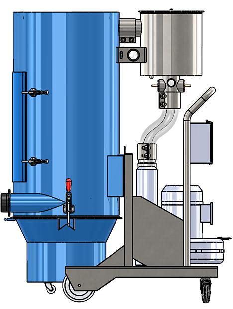 Durovac Industrial Vacuum DVR Side